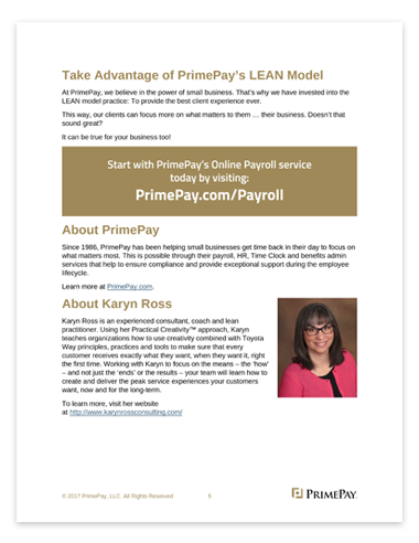 White Paper: PrimePay Uses the Power of LEAN to Satisfy Its Customers Inside Preview