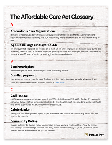 The Affordable Care Act: Terminology Defined Inside Preview