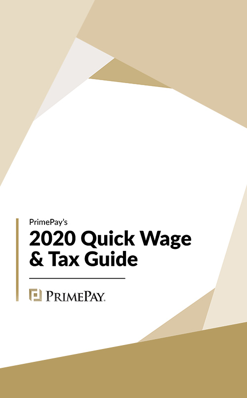 2020 Quick Wage & Tax Guide