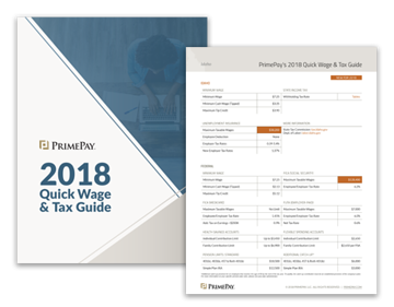 2018 Quick Wage & Tax Guide | PrimePay